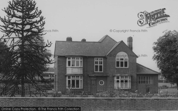 Photo of Wigston, The Poplars, Leicester Road c.1955