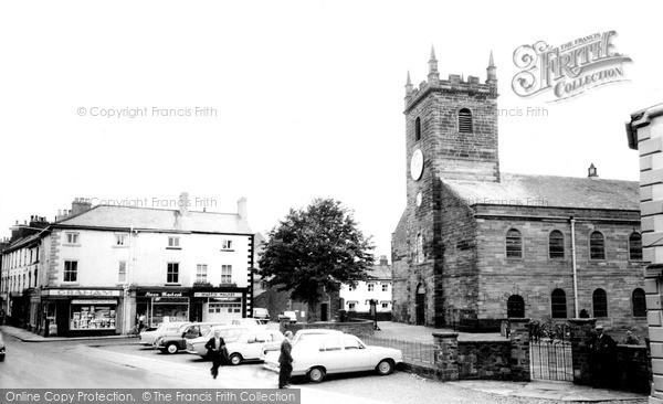 Photo of Wigton, the Church and Square c1965, ref. W424031