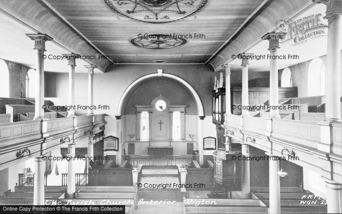 Photo of Wigton, The Parish Church Interior c.1955