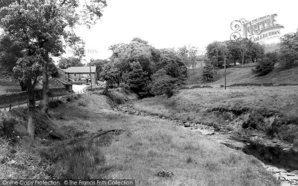 Photo of Wildboarclough, Crag Inn And Clough Brook c.1960