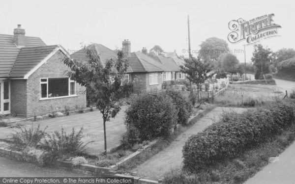 Photo of Willaston, Bungalows, Wybunbury Road c.1965