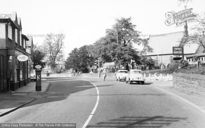 Photo of Willaston, Post Office, Neston Road c.1955