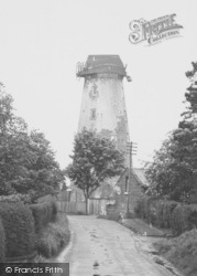 The Windmill And Mill Lane c.1960, Willaston