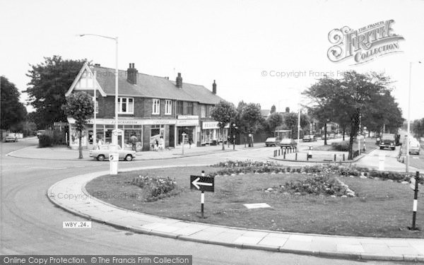 Photo of Willerby, The Roundabout c.1965