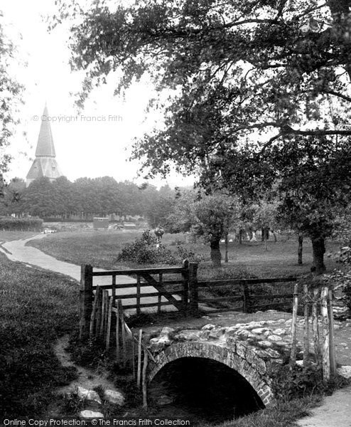 Photo of Willesborough, Bridge And St Mary's Church 1909