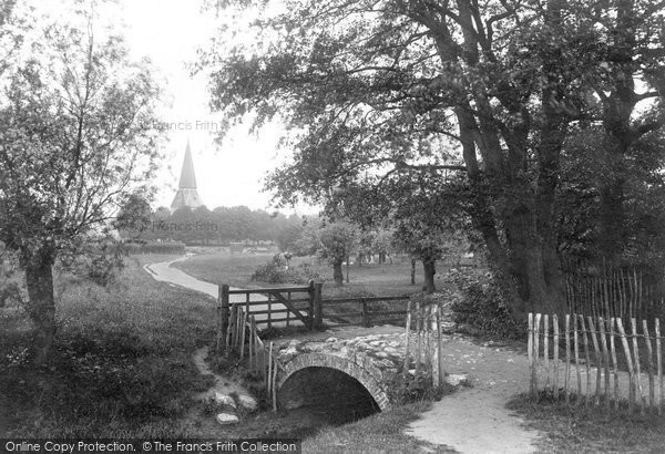 Photo of Willesborough, St Mary's Church And The Green 1909