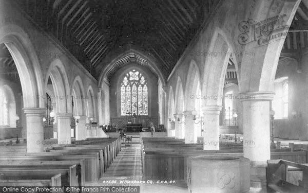 Photo of Willesborough, The Church, Interior 1901