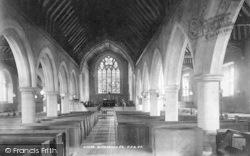 The Church, Interior 1901, Willesborough