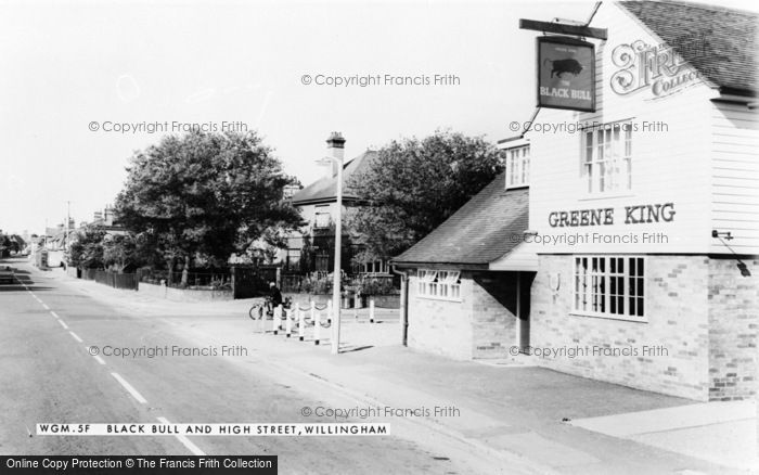 Photo of Willingham, The Black Bull And High Street c.1960