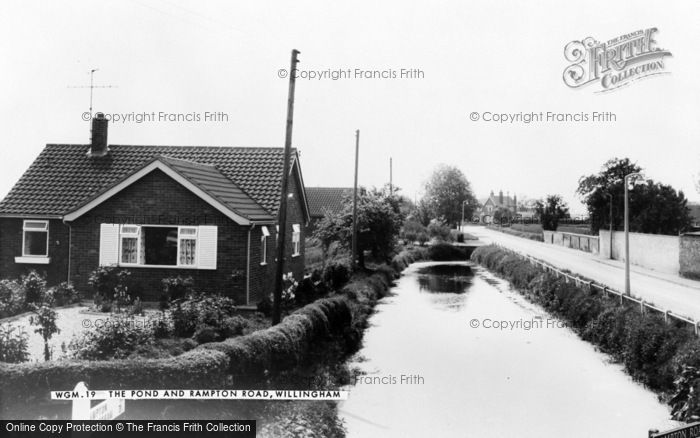 Photo of Willingham, The Pond And Rampton Road c.1965