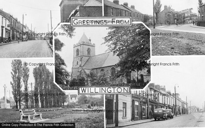 Photo of Willington, Composite c.1955