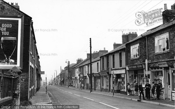 Photo of Willington, Shops, High Street 1962