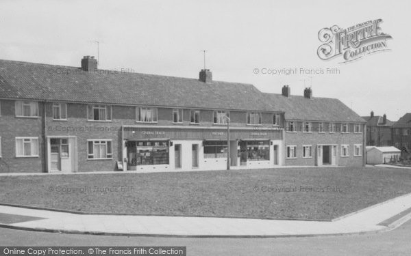 Photo of Willington, Shops, Wear Valley Estate c.1955