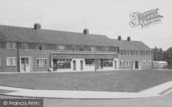 Shops, Wear Valley Estate c.1955, Willington
