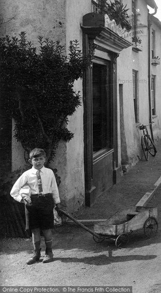 Photo of Williton, Boy In North Street 1929