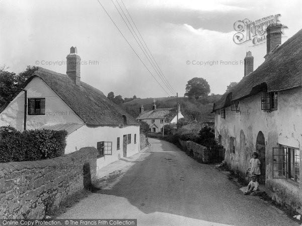 Photo of Williton, Old Cottages, Bridge Street 1929