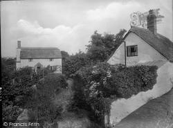Williton, Thatched Cottages, Bridge Street 1929