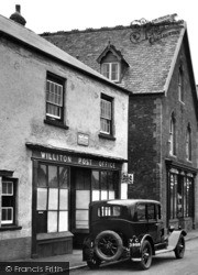 Williton, The Post Office, Fore Street 1929