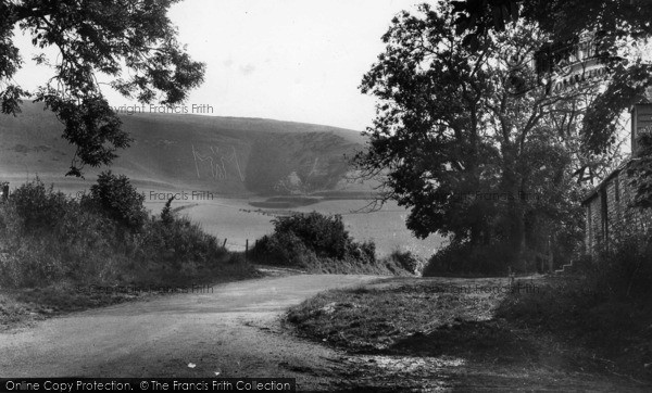 Photo of Wilmington, The Long Man c.1950