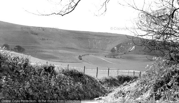 Photo of Wilmington, The Long Man c.1960