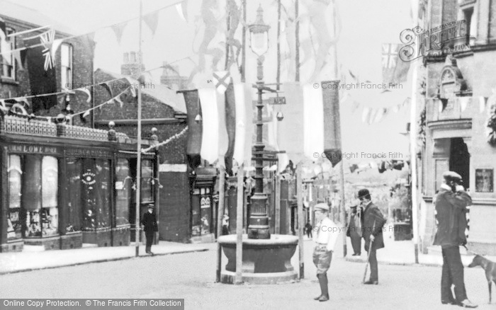 Photo of Wilmslow, Bank Square, Drinking Fountain 1911