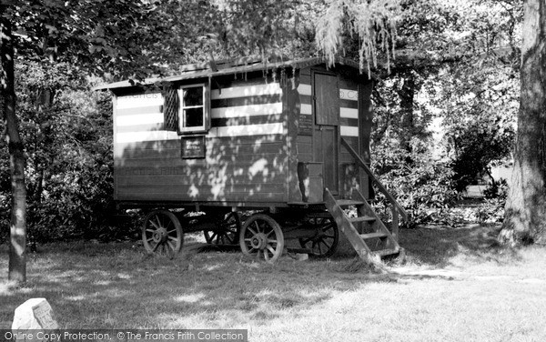 Photo of Wilmslow, Romany's Caravan c1955