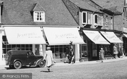 Wilmslow, Shops In Grove Street c.1955
