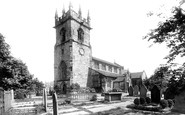 Wilmslow, St Bartholomew's Church from the south west 1896