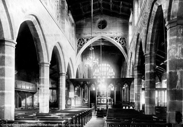 Photo of Wilmslow, St Bartholomew's Church, The Interior 1896