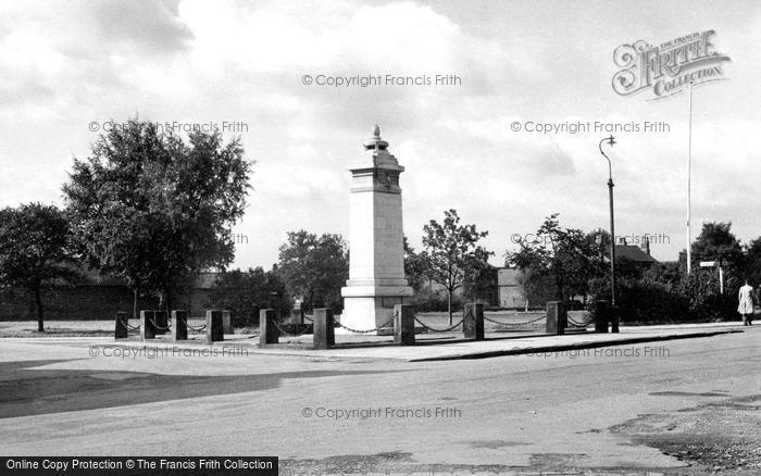 Photo of Wilmslow, The War Memorial c.1955