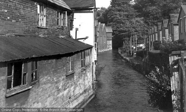 Photo of Wilton, River Wylye c.1955