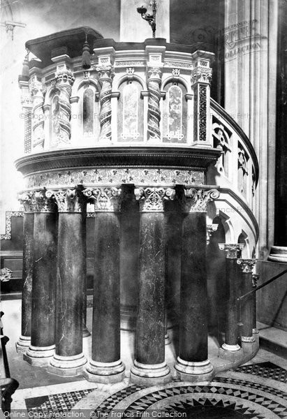 Photo of Wilton, The Church Pulpit 1887