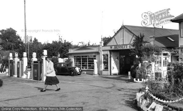 Photo of Wilton, The Garage c.1955