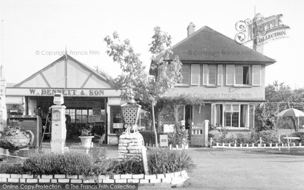 Photo of Wilton, The Garage c.1955
