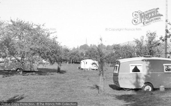 Photo of Wilton, The Garage Caravan Site c.1960