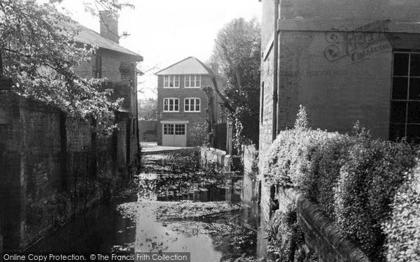 Photo of Wilton, The Stream c.1955