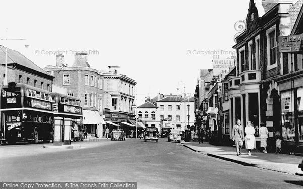 Photo of Wimbledon, High Street c.1955