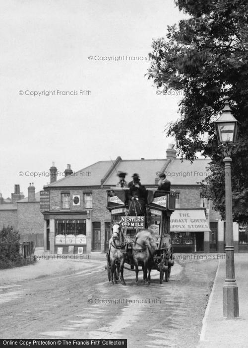 Photo of Wimbledon, Horse Bus In Garratt Lane 1900