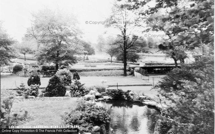 Photo of Wimbledon, Park, Rock Gardens c.1955