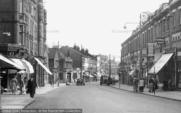 Photo of Wimbledon, Wimbledon Hill Road c.1955