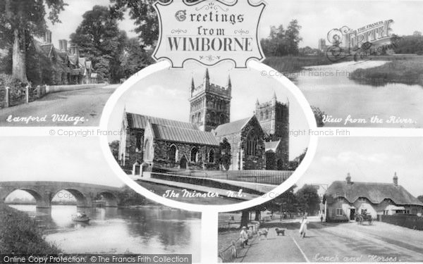 Photo of Wimborne, Composite c.1910