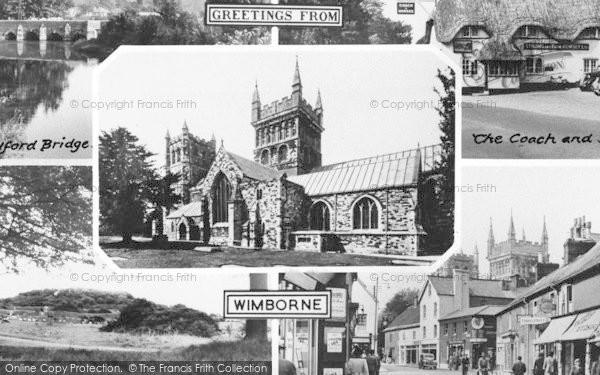 Photo of Wimborne, Composite c.1955