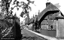 Wimborne, Dean's Court Lane c.1955, Wimborne Minster