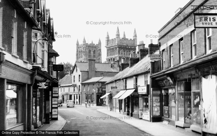 Photo of Wimborne, East Street c.1955