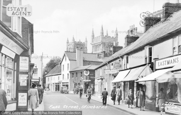 Photo of Wimborne, East Street c.1955