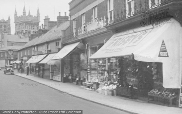 Photo of Wimborne, East Street, Frisby's Shoe Store 1936