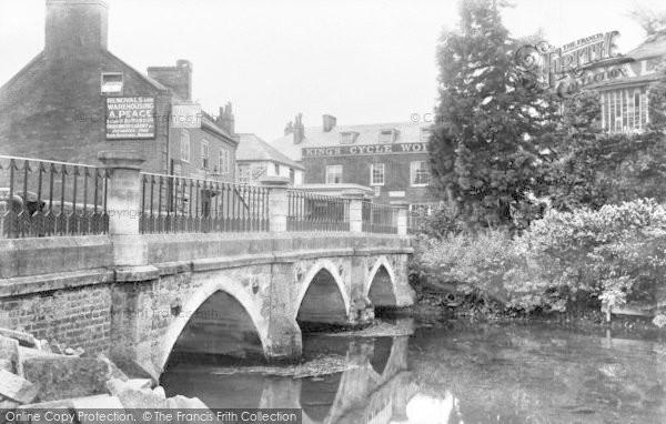 Photo of Wimborne, Eastbrook Bridge c.1900