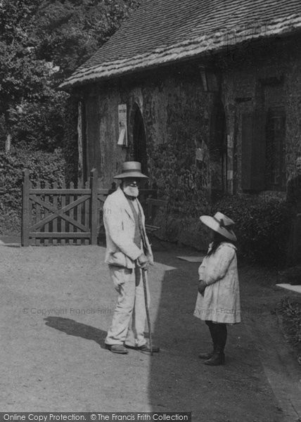 Photo of Wimborne, Grandfather And Granddaughter 1908