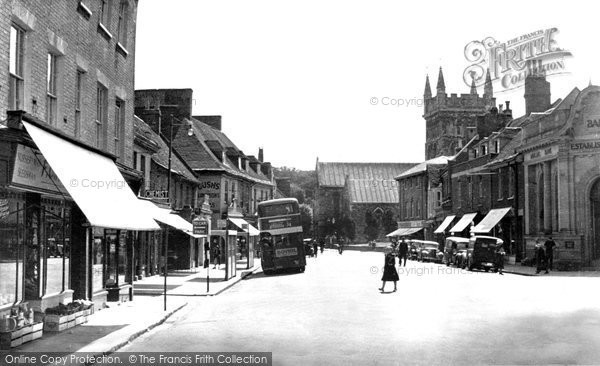 Photo of Wimborne, High Street c.1955