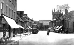 Wimborne, High Street c.1955, Wimborne Minster